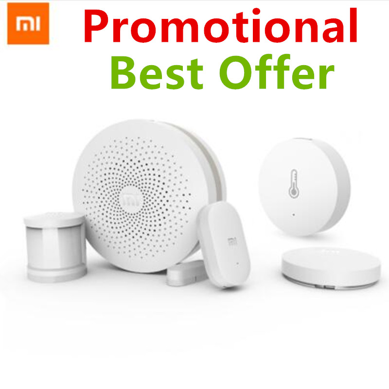 Xiaomi Smart Home Kit Mijia Gateway Door Window Human Body Sensor Temperature Humidity Sensor Wireless Switch Zigbee Socket