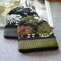 2017 Tapas Del Capó Gorros Sombreros de Invierno Para Los Hombres Marca Invierno sombrero de Mujer Sombrero de Punto Skullies Touca Gorros de Esquí Caliente Camuflaje gorros