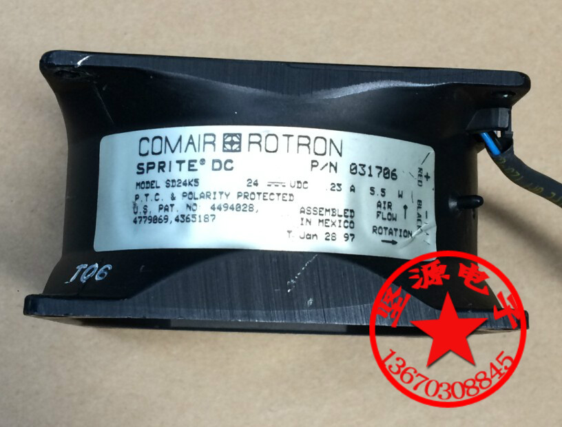 Free Shipping For   COMAIR ROTRON SD24K5 DC 24V 5.5W 3-wire Server Square Cooling Fan free shipping comair rotron fe24b3 80mm 8cm 8025 dc 24v 2 wire cooling fan