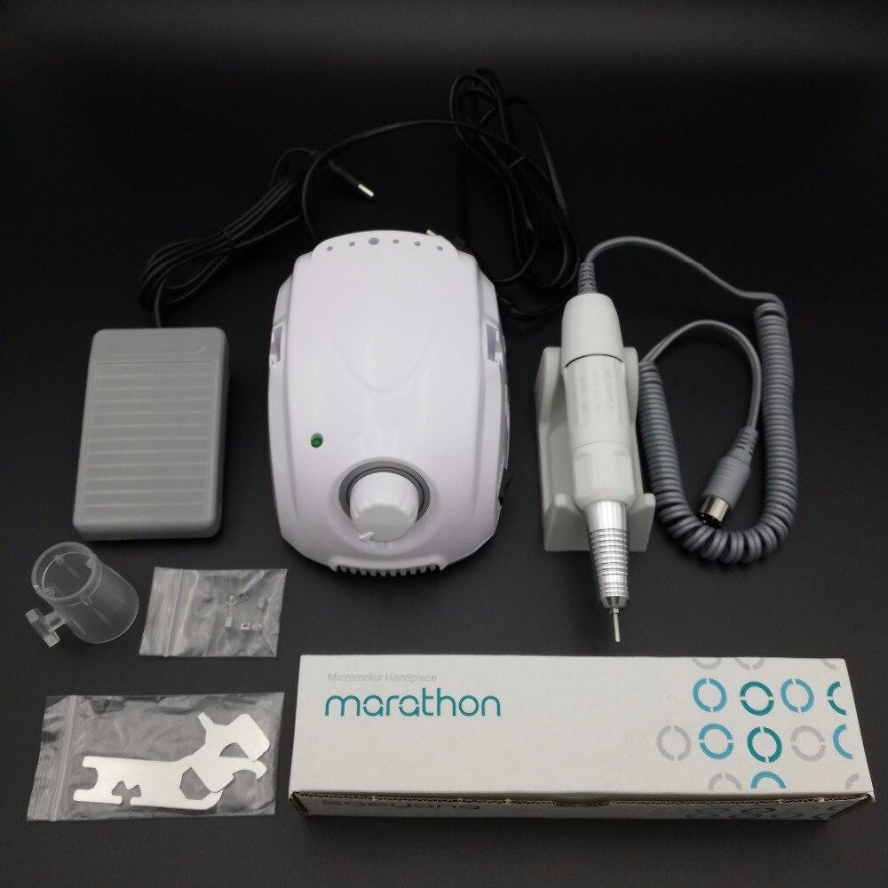 FORTE 210 35 K MARATHON-Champion 3 Micromoteur SDE-H20N Pièce À Main Électrique Manucure kit de perçage pour manucure Nail équipement de forage