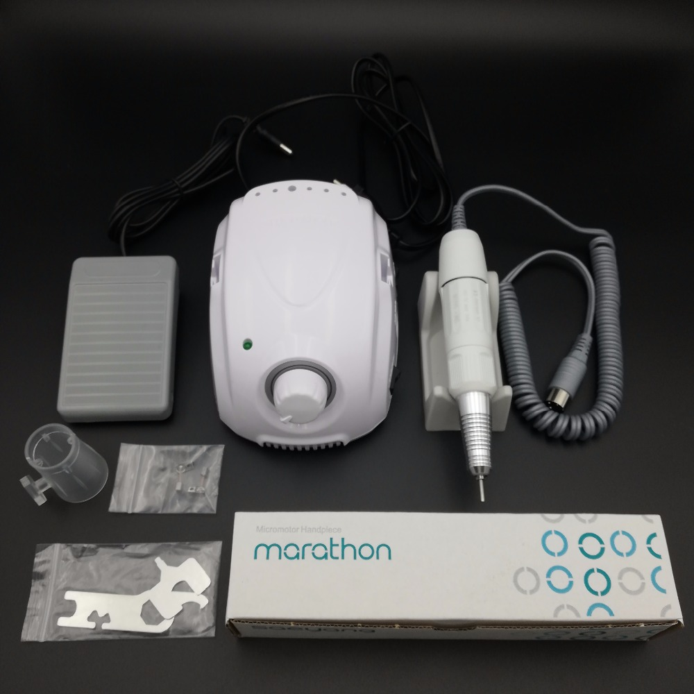 STRONG 210 35K MARATHON Champion 3 Micromotor SDE H20N Handpiece Electric Manicure Drill Set for manicure