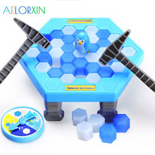 цена Funny Penguin Trap Interactive Indoor Board Game Ice Breaking Save The Penguin Parent-child Table Entertainment Toys Kids Gi