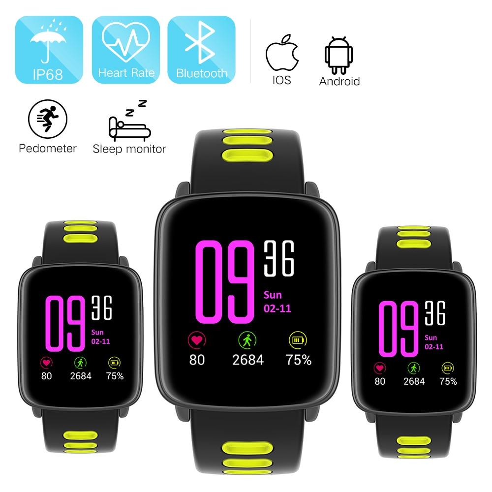 imágenes para GV68 Monitor de Ritmo Cardíaco Reloj Inteligente IP68 A Prueba de agua deporte relogio Smartwatch para Android IOS Teléfono pk kw88 k88h usable dispositivos