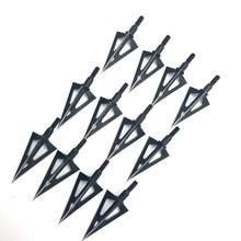 100 de punta de lanza punto teflón tratamiento de superficie Broadhead flecha arco para cazar bestias punta de flecha de 3 hojas