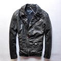 2015 New Men lapel Slim Short paragraph locomotive leather jacket JSH625