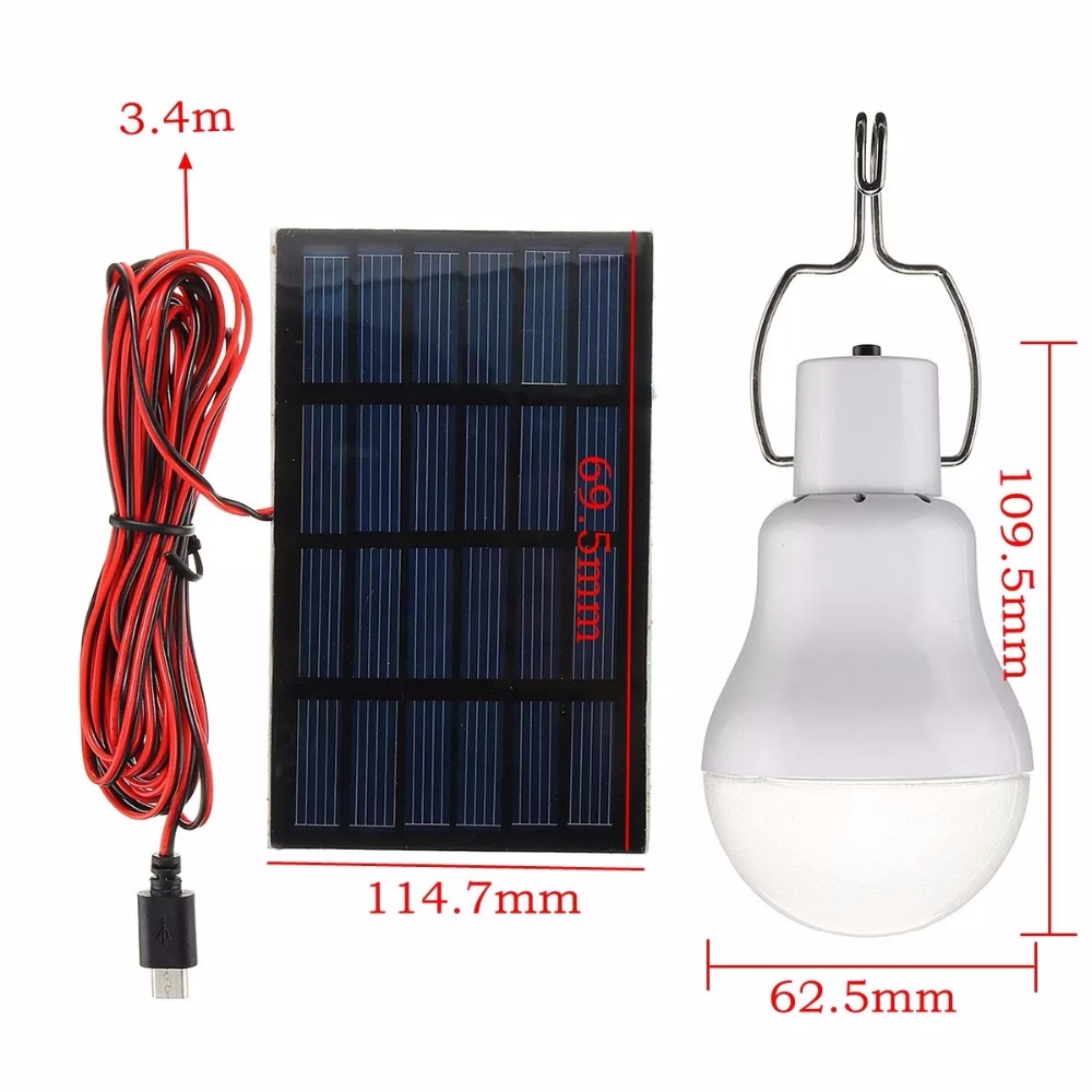 Solar LED Light Bulbs Outdoor Solar camping Lamp Green Energy Ground Buried solar deck Light 150LM in Solar Lamps from Lights Lighting