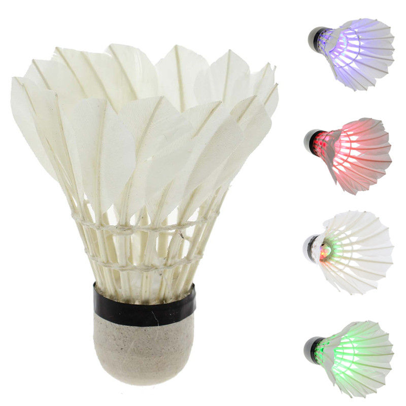 1Pc LED Lighting Dark Night Colorful Birdies Badminton Shuttlecocks