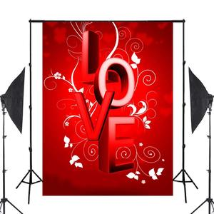 Image 2 - Word LOVE Background Red Photography Background Studio Props Wall Bedroom Photo Backdrop 5x7ft