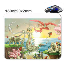 HOT SALES Custom Antiskid 3 D Okami Amaterasu And Chibiterasu  Mouse Pad  220X180x2mm Office Accessory Tablet  And Giftt