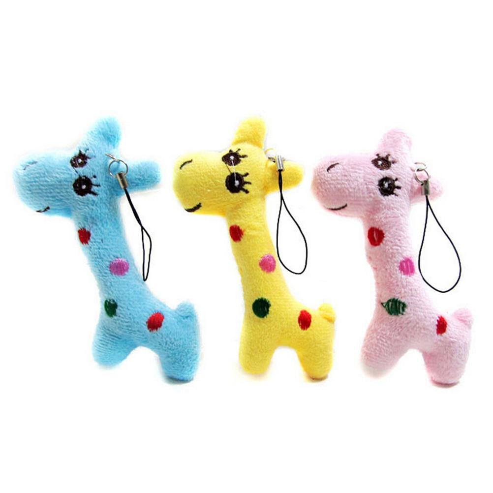 1pcs 3 Colors Mini Giraffe Key Chain Gifts For Kids Dolls Stuffed