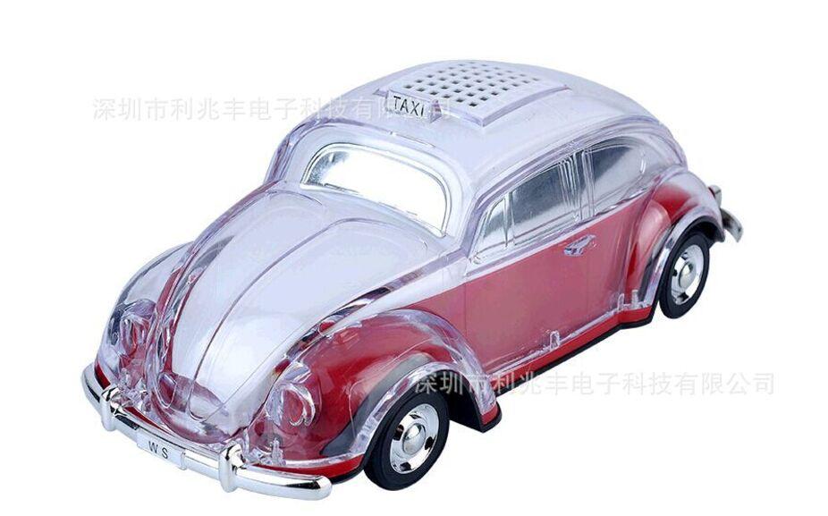 WS-1937BT Colorful Bluetooth Mini Speaker Car Shape Mini Speaker Sound Box MP3++U Disk+TF+FM Function+Bluetooth