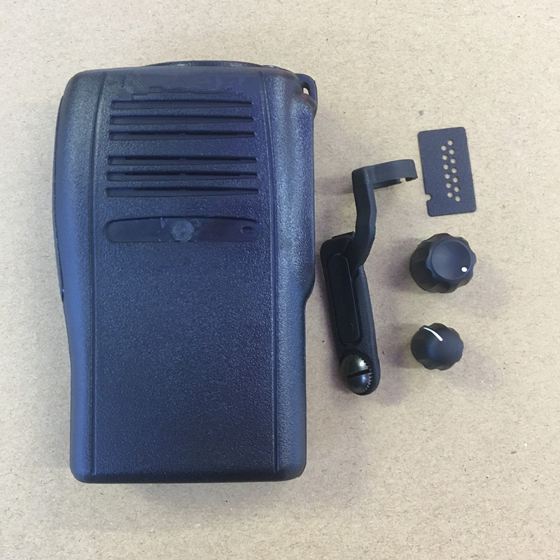 honghuismart the Housing shell front case replacement for Motorola GP328plus ,GP344 walkie <font><b>talkie</b></font> with dust cover, knobs