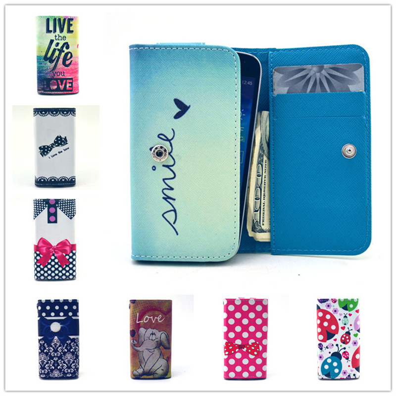 For Meizu M3S Mini Case,5.0 inch Universal Painting Wallet PU Leather with Card Holder Case For Meizu M3S Mini
