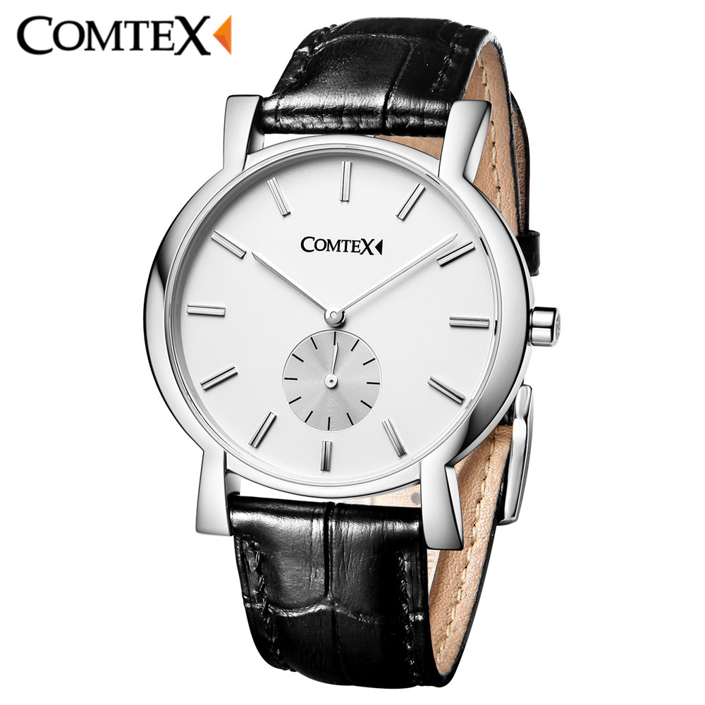 Comtex Men Watch New Simple Fashion Black Leather Buckle Band Wristwatch Analog Masculine Waterproof Watches Quartz Clock Gift professional 24w pet dog hair trimmer ceramic head clipper animal electric cat grooming hair cutter shaver razor w comb brush