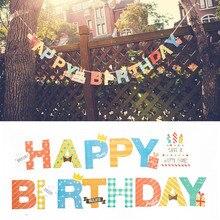 Cartoon baner urodzinowy list w kształcie przyjęcie flagi Bell Garland flagi Baby Shower Kids impreza urodzinowa dostarcza dekoracje