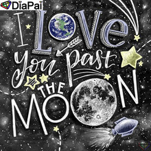 DiaPai 5D DIY Diamond Painting 100% Full Square/Round Drill Text moon scenery Diamond Embroidery Cross Stitch 3D Decor A21848 diapai 5d diy diamond painting 100% full square round drill text moon buddha diamond embroidery cross stitch 3d decor a21533