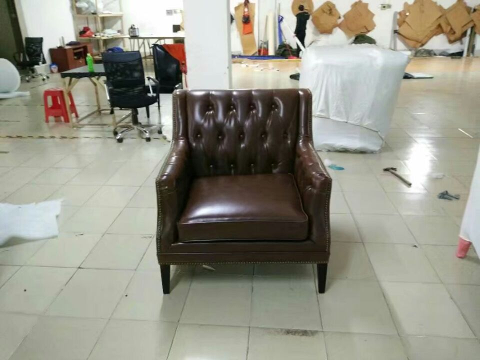 Living Room Furniture Lovely Cow Real Genuine Leather Sofa Living Room Chair Home Furniture Modern American Country Style Leisure Chair Oil Wax Leather Sofa Comfortable And Easy To Wear Home Furniture