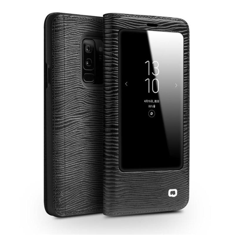 QIALINO étui pour Samsung Galaxy S9/S9 Plus en cuir véritable housse de luxe pour Samsung S8 Plus 5.6/6.1 pouces