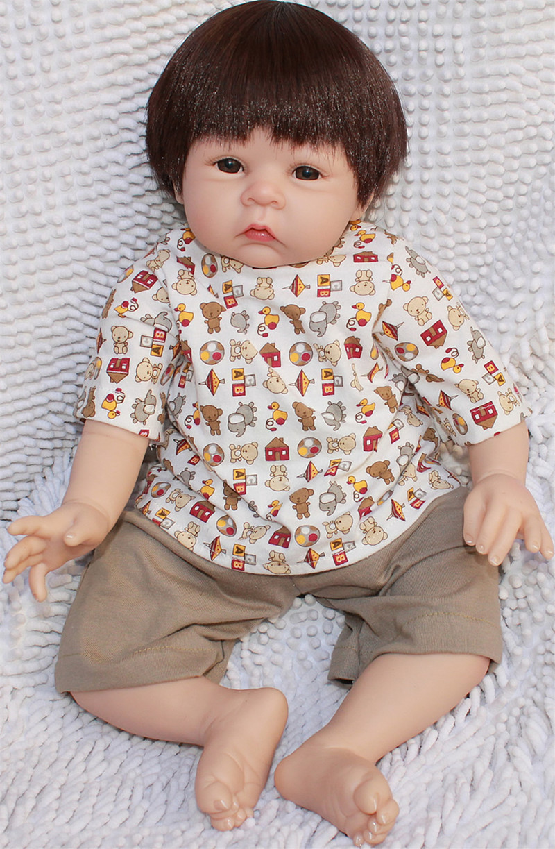 hot sale handmade 22inch npk silicone reborn baby dolls cute real