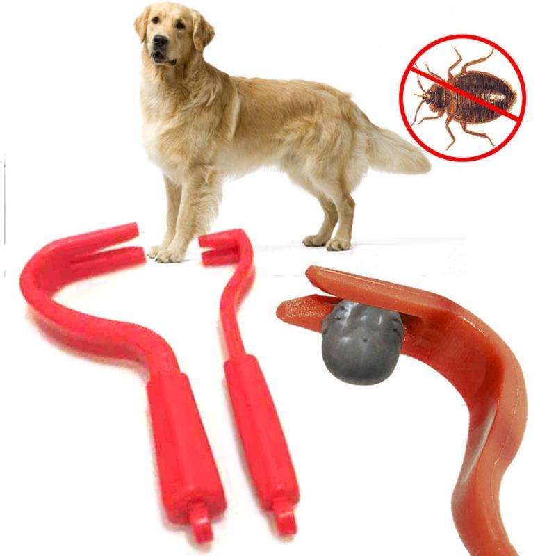2pcs/set Pet lice tools Cute Dog Plastic Remover Hook Tool For Pet Dog Horse Cat Health Pets Accessories A20 ...