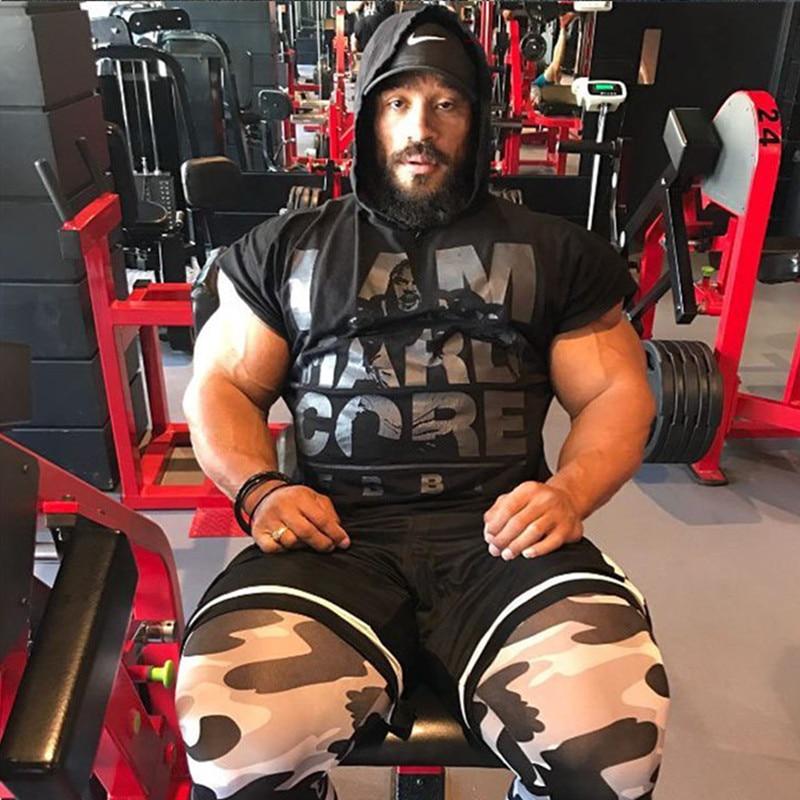 Men cotton hoodie sweatshirts fitness tank top (11)