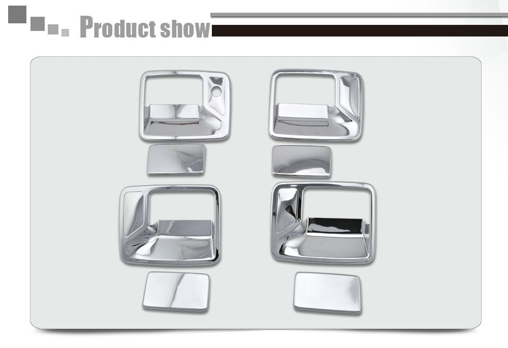 2000-2006 F250 Accessories 4D Door Handle Cover No PSKH For Ford F-250 South American Version Only ABS Chromium FREE Shipping b