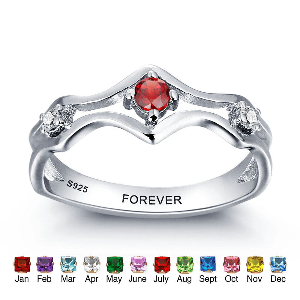 Birthstone Promise Rings Promotion-Shop for Promotional Birthstone ...