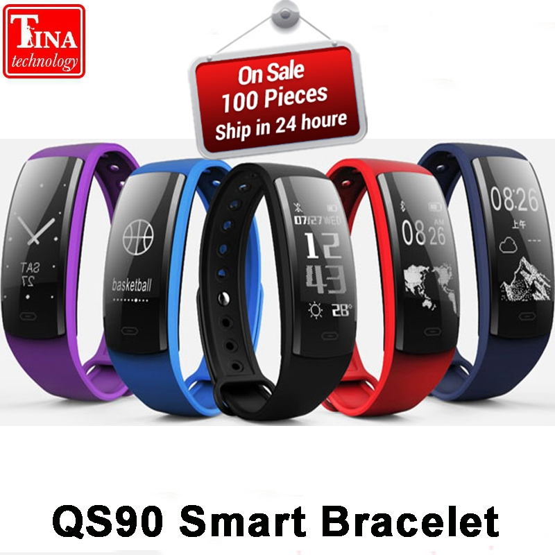 Original QS90 Blood Pressure Smart Bracelet Heart Rate Monitor Blood Oxygen Monitor Fitness Tracker for Andriod IOS VS QS80