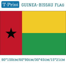 Free shipping The Republic of Guinea-Bissau National Flag 90*150cm 60*90cm 15*21cm 30*45cm Car 3x5ft Banners For Decoration