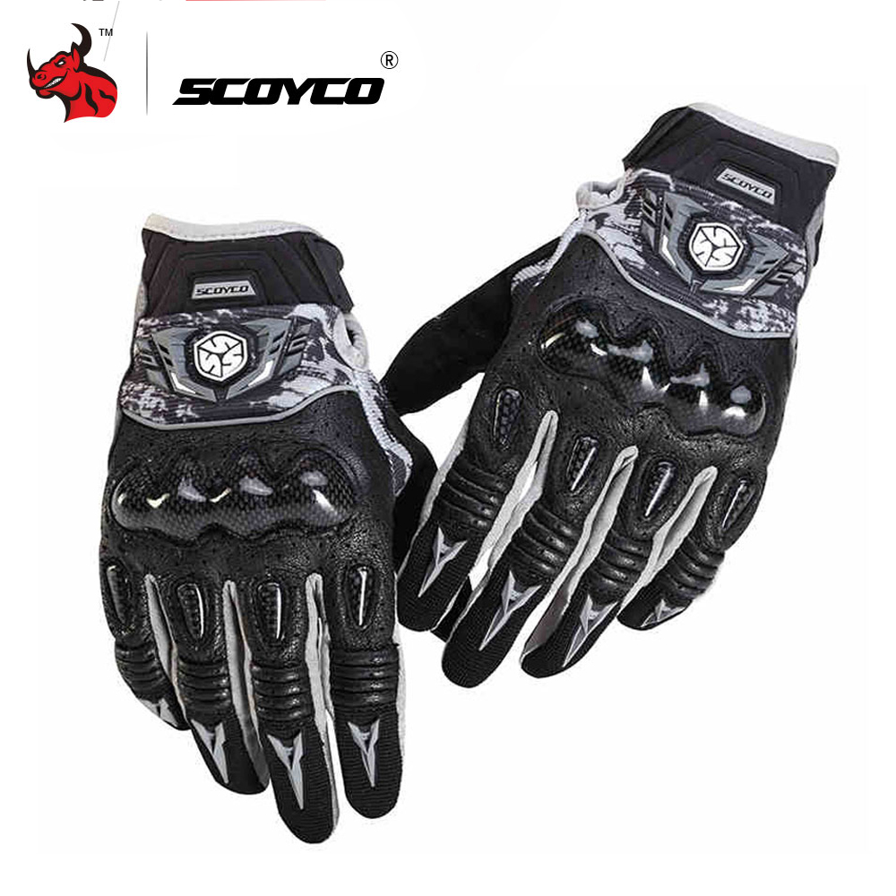 SCOYCO Motorcycle Gloves Breathable Wearable Leather Racing Gloves Men Women Motorbike Guantes Luvas Moto Motocross Gloves