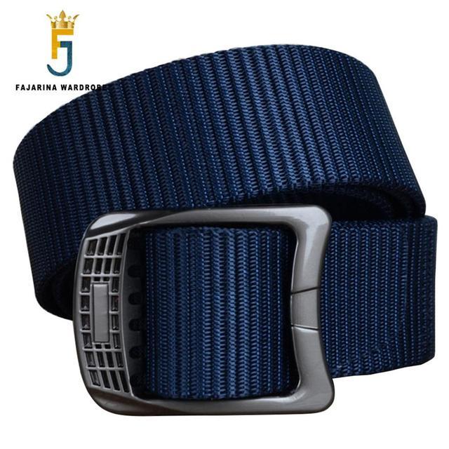 Fajarina unisex calidad aleación hebilla de acero diseño Sol patrón estilos straped correas de nylon de la moda femenina 120 cm longitud cbfj0053