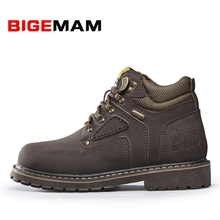 2016 Hot Autumn Winter Brand Men Shoes Martin Boots Suede Leather Warm Snow Boots Outdoor Casual Timber Boots Botas