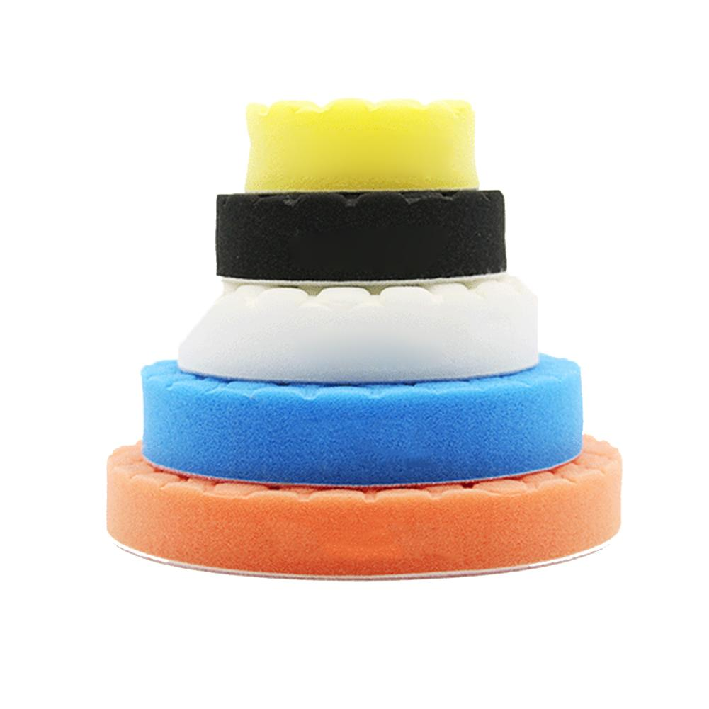 Image 2 - 5PCS/Set3/4/5/9/7inch Buffing Pad Car Polishing Pad Foam For Car Polisher Buffer Car Cleaner Tools-in Sponges, Cloths & Brushes from Automobiles & Motorcycles