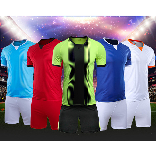 Wholesale Kids Jersey Soccer Voetbal Trainingspak Kids Sportswear Football  Quickly Dry Training Suits Men s Soccer Shirts Shorts 3e4701c8b