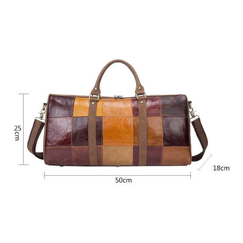 De Véritable À Homme Sac Sacs Designer Vintage Grande 2019 Mode Brown Hommes Capacité Patchwork Messenger En Cuir Main Voyage Nouvelle 6SqYvTw