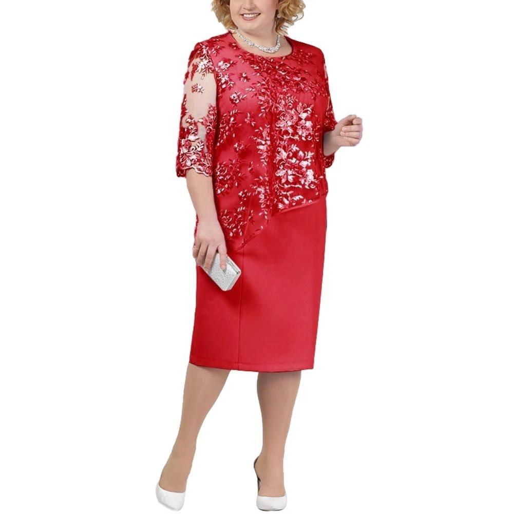 Summer Tops For Women 2020 Plus Size Wedding Party Gown Scoop Neck Half Sleeve Robe Mere De La Mariee Topy Letnie Dresses Aliexpress