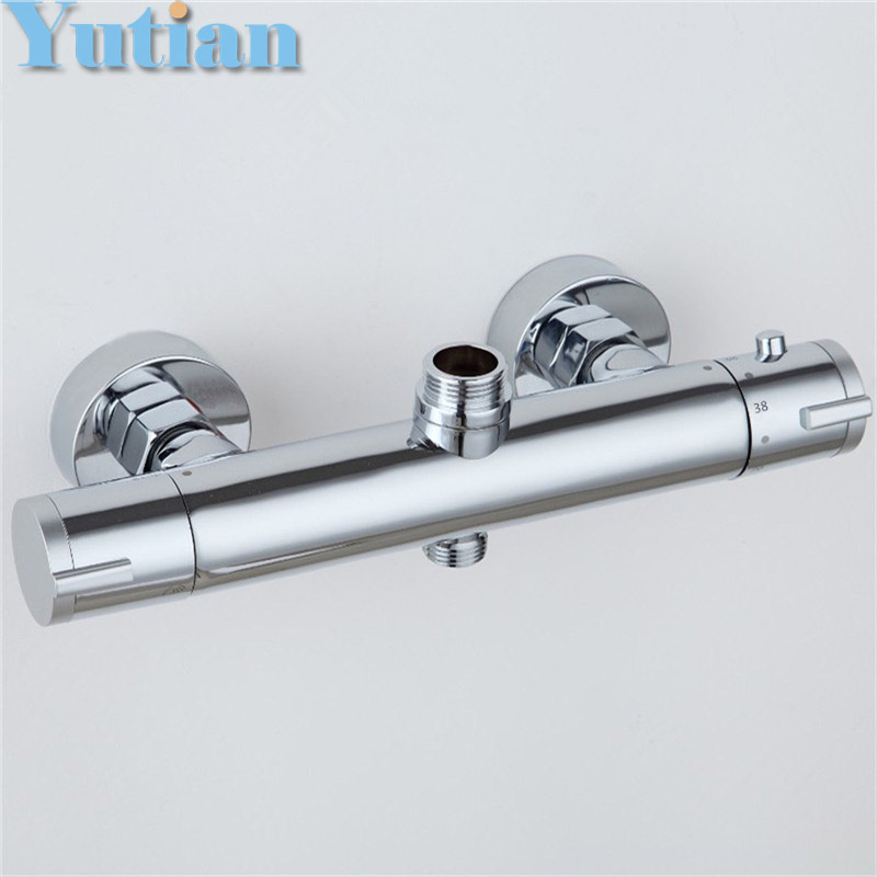 New Arrival High Quality Copper Bathroom Thermostatic Mixer Valve Shower Faucet Inelligent Bathtub Mixer valvola termostatica fashion high quality brass chrome thermostatic bathroom shower faucet constant temperature faucet mix water valve full copper