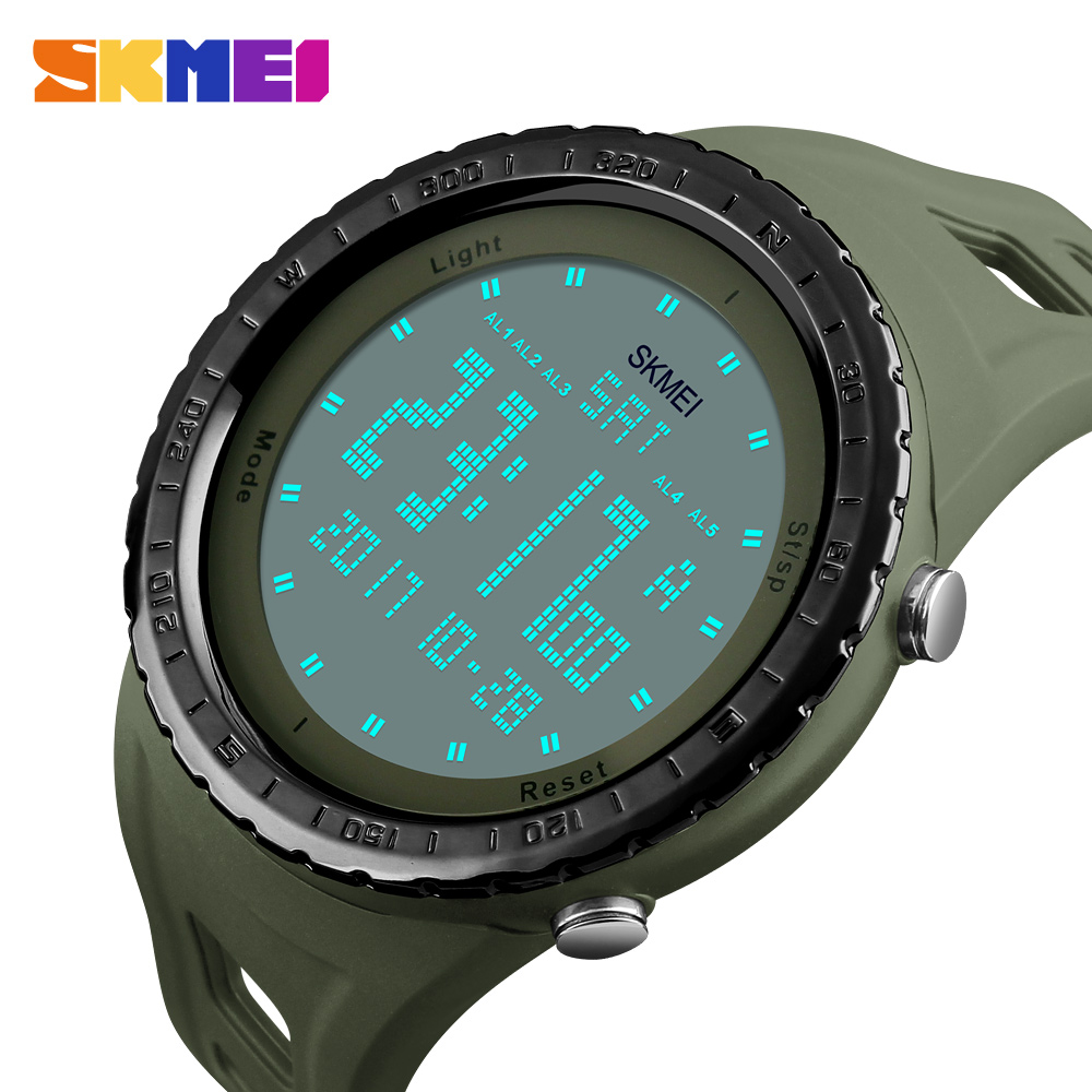 Military Watches Men Fashion Sport Watch SKMEI Brand LED Digital 50M Waterproof Swim Dress Sports Outdoor Wrist watch skmei 1055 fashion 50m waterproof student led electronic sport watch