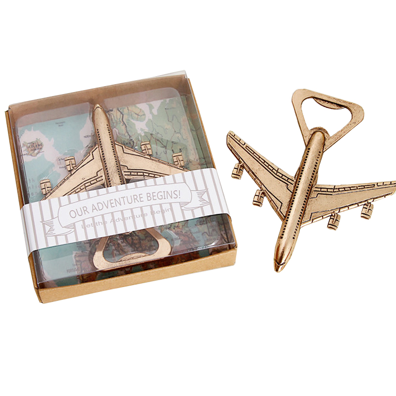 100pcs Creative Antique Opener Plane Beer Bottle Opener Airplane Shape Bottle Opener for Wedding Gift Party Kitchen Gadgets image