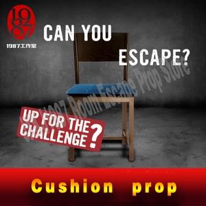 Sala de fuga realidade jogo almofada adereços sentar para abrir bloqueio cadeira prop a partir jxkj1987 para a vida real sala escapar jogo aventureiro