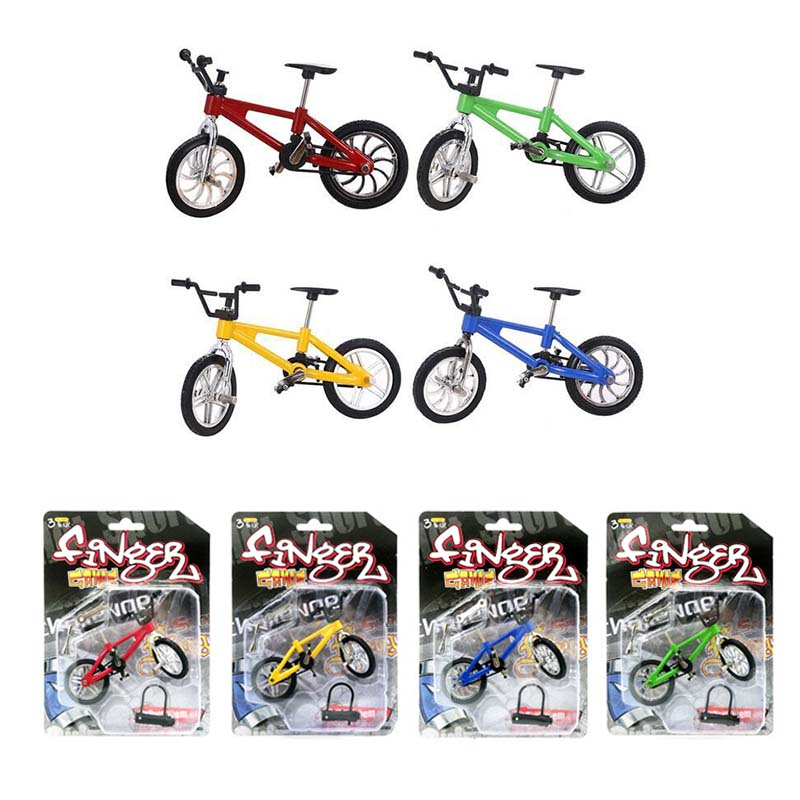 Mini Skateboards & Bikes Toys & Hobbies Lower Price with 10.5cm*7cm Mini Finger Bmx Bicycle Flick Trix Finger Bikes Toys Bmx Bicycle Model Bike Tech Deck Gadgets Novelty Gag Toys