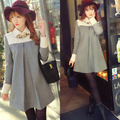Hot sale great deal  Autumn/ Woolen Maternity Coats Warm Clothes plus size  Slim casual Gray Outerwear Coat Clothing  Pregnancy