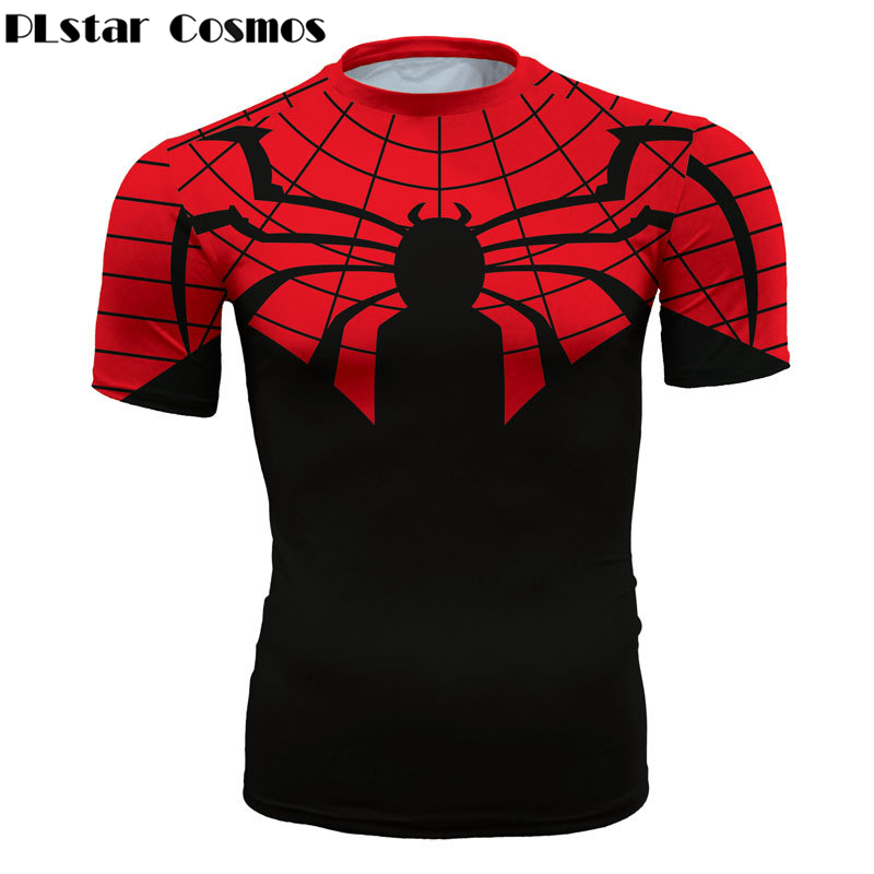 PLstar Cosmos Super hero Spiderman Civil War 3D Print t shirt Fitness Tee shirts Men Marvel Avengers 3 iron man compress t shirt