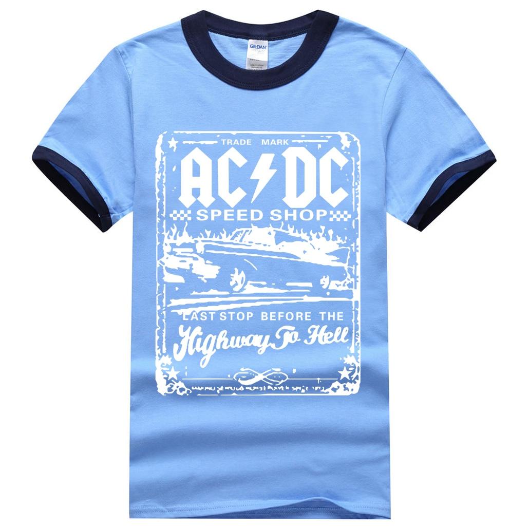 Corta Shirt Ringer ACDC 2017 Uomo Estate Manica T Camicia 100 BwEEqFT8x