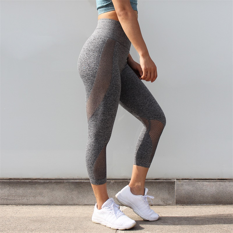 New Seamless Yoga Leggings Compression Workout Sport Pants Tummy Control Gym Pants Booty Scrunch Fitness Ankle