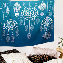 Wall Hanging Dreamcatcher Printed Large Tapestry Bohemian Style Home Decoration Bed Sheets Beach Swimwear Blankets Picnic Mats(China)