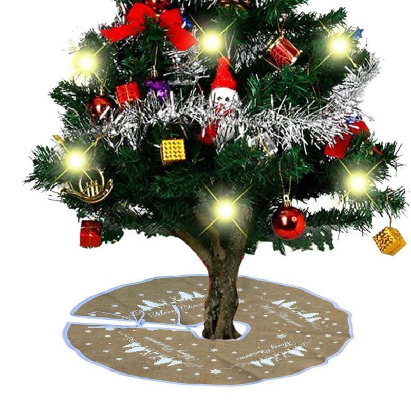 Snowflake Christmas Tree Skirt Decorations For Home