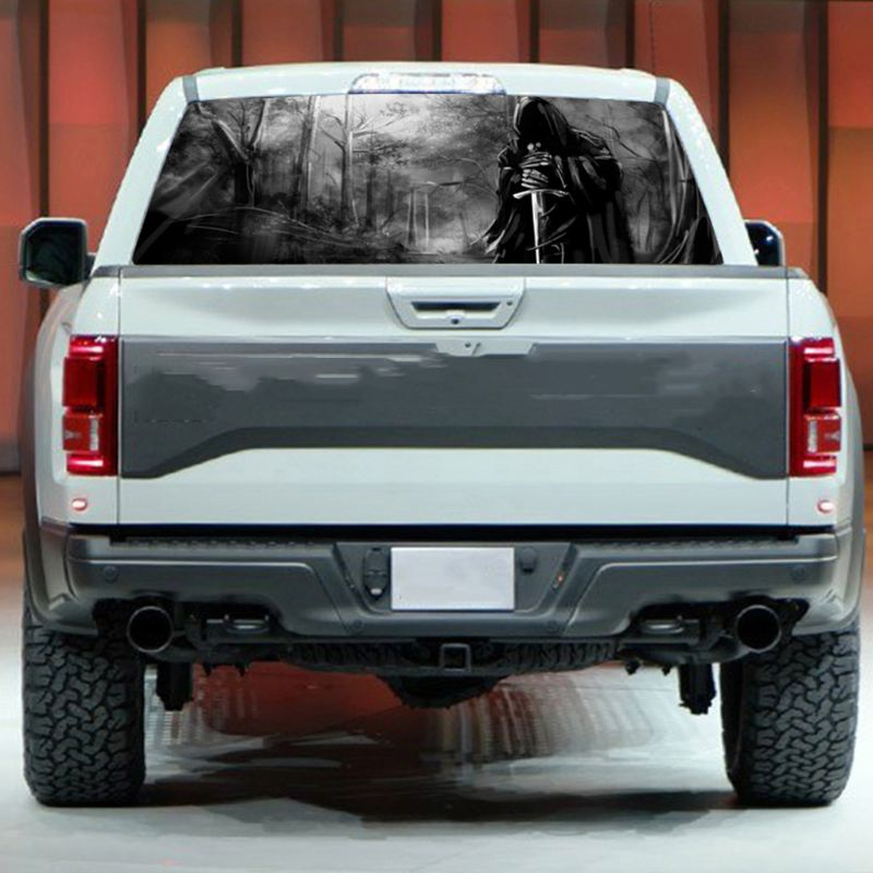 Image 4 - 3D Grim Reaper Death Forest Rear Window Graphic Sticker Car Truck SUV Van Decal-in Car Stickers from Automobiles & Motorcycles