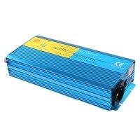 Портативный автомобильный инвертор 2000 Вт DC 12 В к AC 220 В Чистая синусоида зарядное устройство конвертер регулятор напряжения инвертор для ТВ