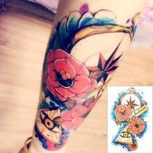 Illuminati futuro ojo tatuaje temporal Body Art Tattoo Flash Sticker 21 * 15 cm impermeable Fake Tatoo Henna sin dolor etiqueta engomada del tatuaje